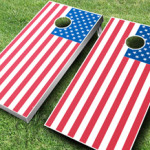 Cornhole American Flag Boards