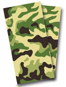 Camo Cornhole Decal