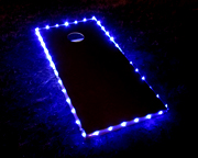 Blue Cornhole Lights