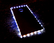 White Cornhole Board Lights