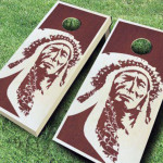 Cornhole Boards with Stain